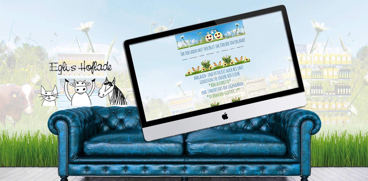 Eglis Hofladen webdesign by grafik zum glueck