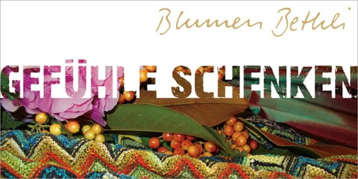 Flyergestaltung - Flyer Design - Blumenbethli 7 - grafik ZUM GLÜCK.CH