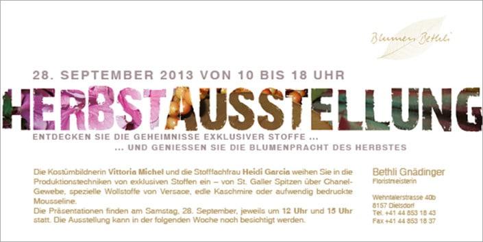 Flyergestaltung - Flyer Design - Blumenbethli 8 - grafik ZUM GLÜCK.CH
