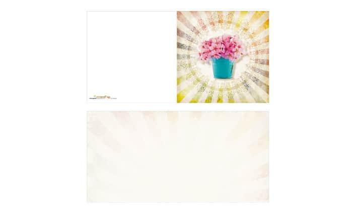 Grusskarte - Blumengruss - Grafik Design - grafik ZUM GLÜCK.CH