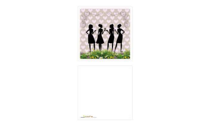 Grusskarte - Girls - Grafik Design - grafik ZUM GLÜCK.CH