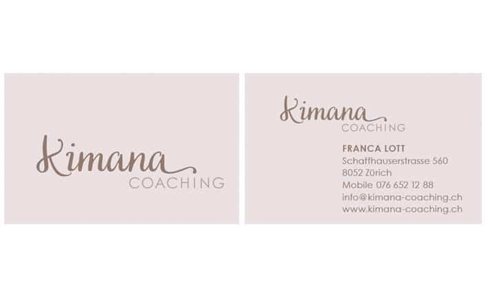 Kimana Coaching Logo Corporate Desing by grafikzumglueck