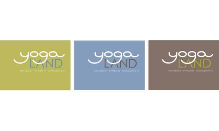 Logodesign Corporate Identity Yoga Land 2 - Grafik Design - grafik ZUM GLÜCK.CH