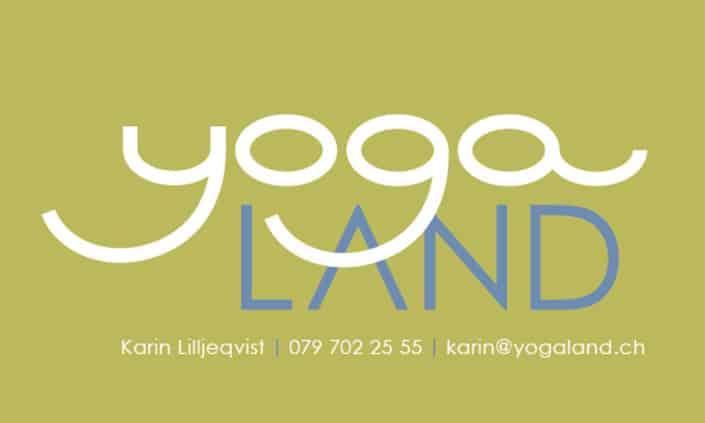 Logo Design - Corporate Identity - Yoga Land - Grafik Design - grafik ZUM GLÜCK.CH