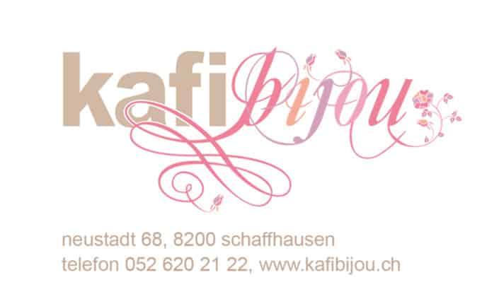 Visitenkarte Corporate Identity Kafi Bijou - Grafik Design - grafik ZUM GLÜCK.CH