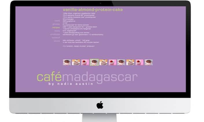 Webdesign - Cafe Madagascar - Grafik Design - grafik ZUM GLÜCK.CH