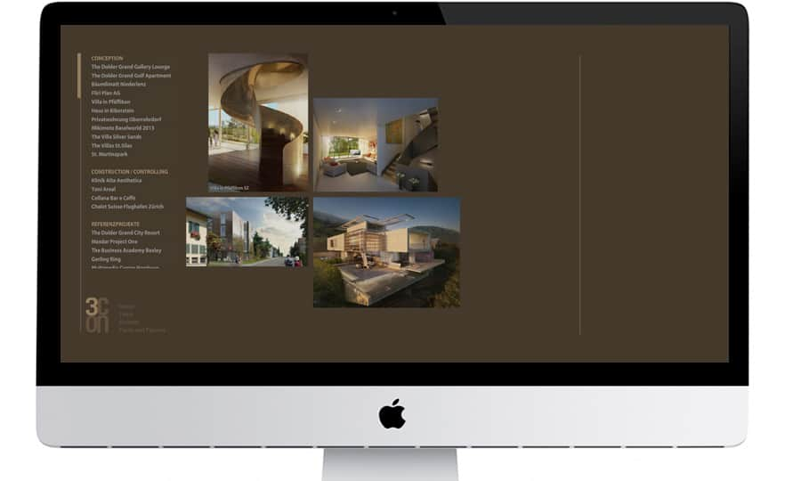 Webdesign - Dreicon - Startseite - Grafik Design - grafik ZUM GLÜCK.CH