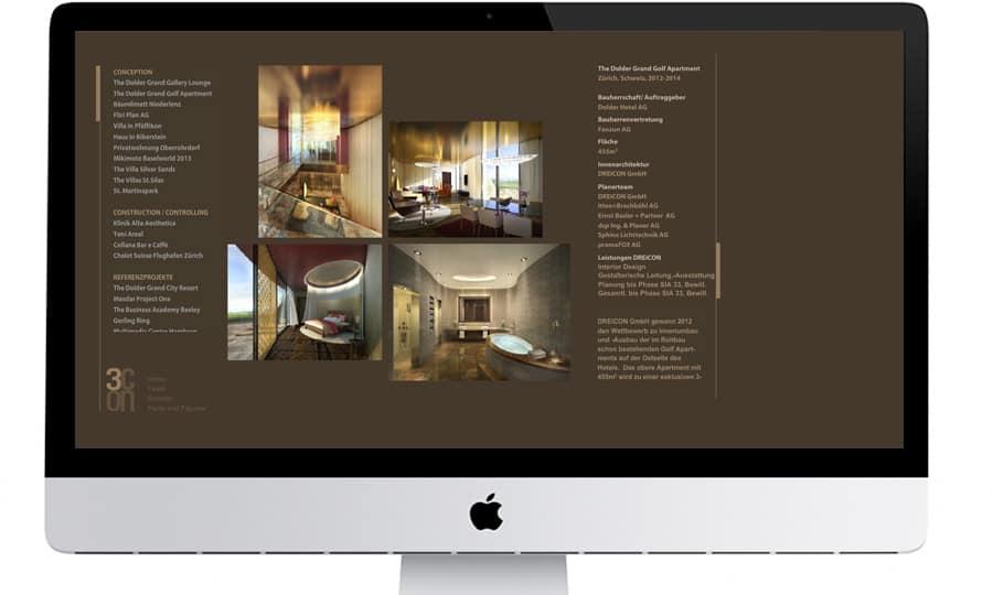 Webdesign - Dreicon - Unterseite - Grafik Design - grafik ZUM GLÜCK.CH
