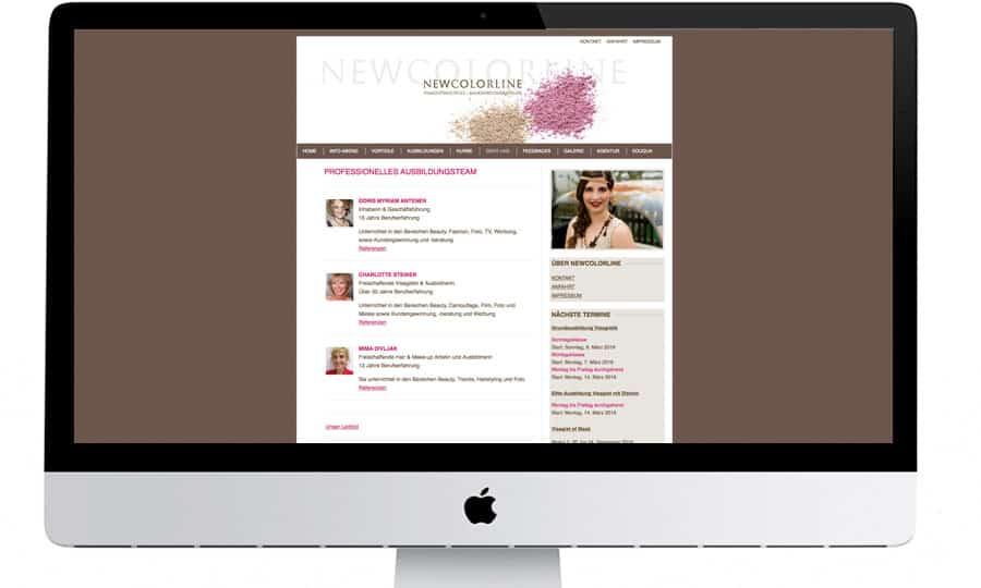 webdesign gestaltung design webpage homepage newcolorline beauty schminken makeup. Black Bedroom Furniture Sets. Home Design Ideas