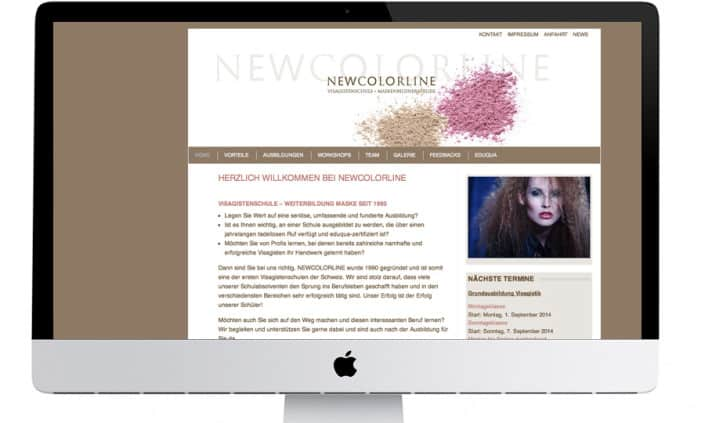 Webdesign - Newcolorline - Grafik Design - grafik ZUM GLÜCK.CH