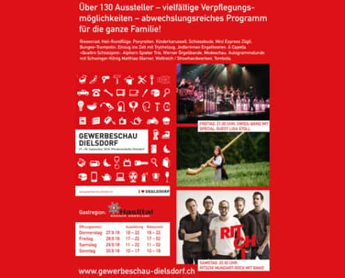 Flyer Gewerbeschau Dielsdorf Flyer + Web Design by grafikZUMGLÜCK
